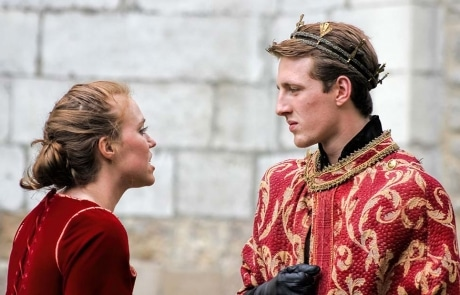 Actors Performing Shakespeare Open Air Theater. King and Queen